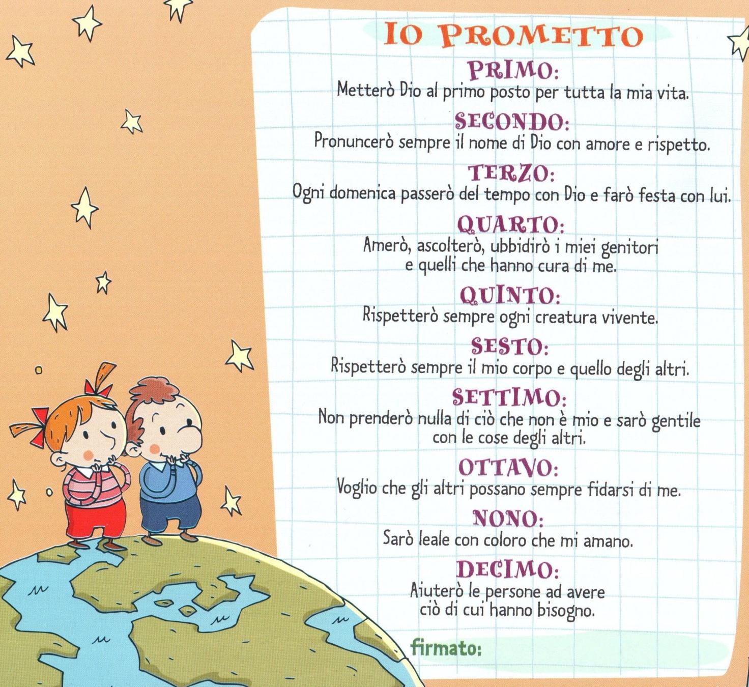 I 10 comandamenti per bambini basilica parrocchia santa - Tasse sull acquisto della prima casa ...